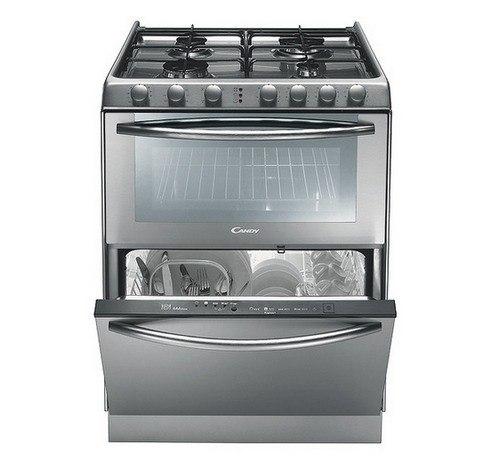 Небольшая посудомоечная машина под варочной поверхностью