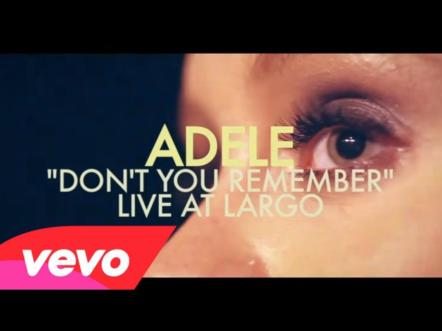 Adele - Dont You Remember (Live at Largo)