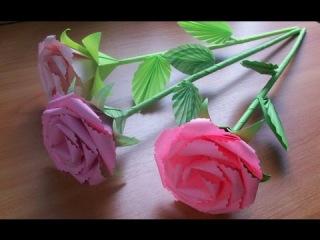 Подарки Своими руками. Как Сделать Оригами Розы Из Бумаги. Букет Роз