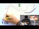 Monaco track drawing over V6 F1 Guitar