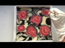 Soapmaking: Thorns and Roses soap (pipe divider swirl)