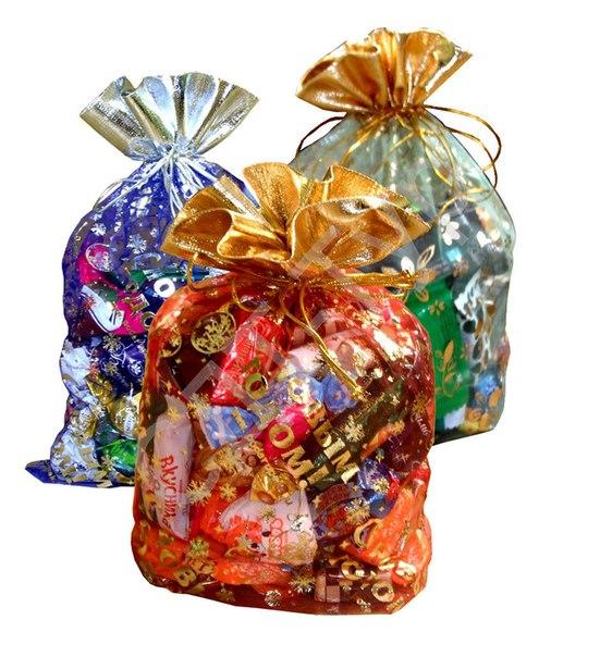 Новогодние пакеты для конфет своими руками