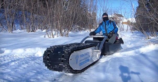 Самый стрёмный зимний транспорт - мотособака и её друзья