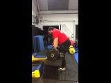 Эд Хэлл, подъём на грудь и строгий жим бревна - 207 кг!