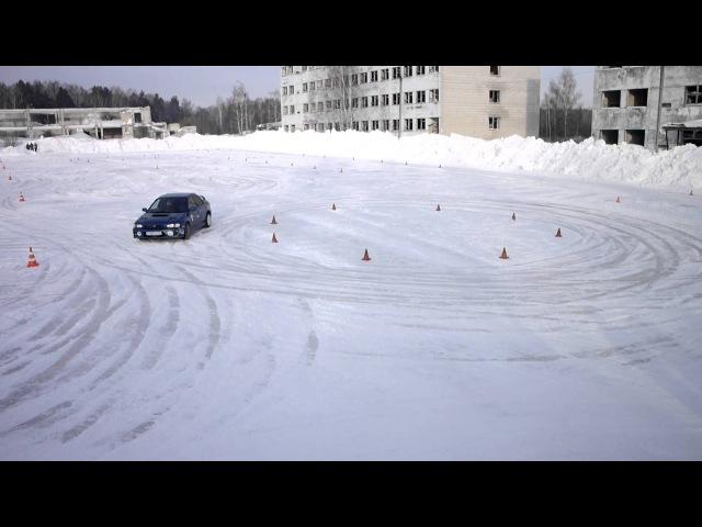 Winter Gymkhana Tomsk 2015 - Subaru Impreza WRX TypeRA