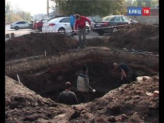 В центральной части Ельца начались археологические раскопки