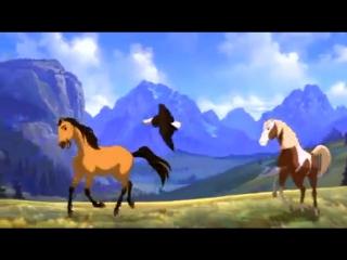 далеко,далеко. ускакала в поле молодая лошадь