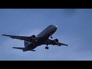 Споттинг.Заход на посадку Airbus A320 (VQ-BKS) А/К Аэрофлот в Омске