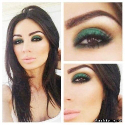 Вечерний макияж для зеленовато карих глаз