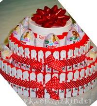 Торт своими руками из конфет киндеров