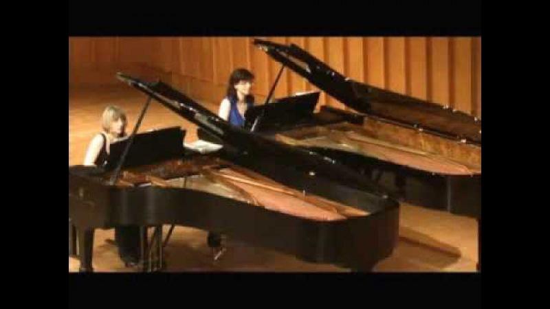 Mozart - Grieg Fantasia in C - minor KV 475 EStrella Piano Duo