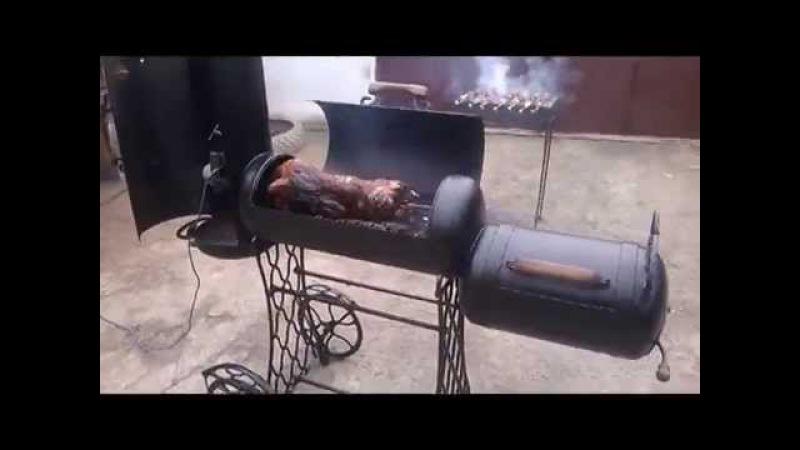 Мангал своими руками (вертел, гриль, барбекю, коптилка) Видео №1