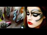 Макияж и маникюр на Хэллоуин Идеи макияжа и украшения ногтей на вечеринку  Хэллоуин