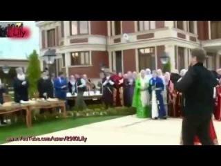Рамзан Кадыров на Свадьбе в Чечне. Ловзар 2015! Лезгинка!