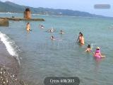 Сухум: Кадры города и пляжа Отдых в Абхазии на море 2015 Без комментариев