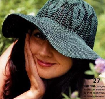 шляпка крючком схема - Самое