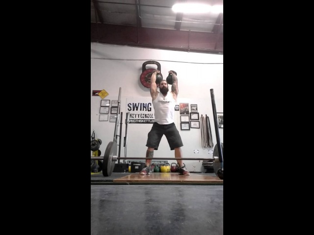 Kettlebell [ Complex ] Snatch Grip Deadlifts Long Cycle and Mace Spins 10 25 2015