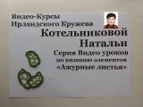 Уроки вязания крючком ирландского кружева Ажурные листья 1ый Урок
