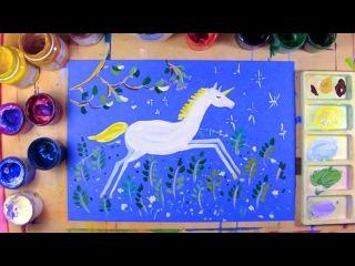 Как нарисовать Единорога - урок рисования для детей 6-9 лет, рисуем дома поэтапно