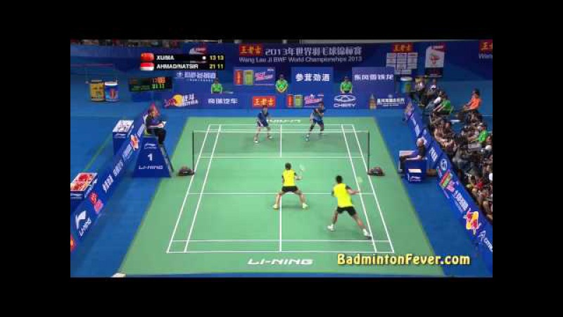 Badminton Highlights - T. Ahmad L. Natsir vs Xu C. Ma J. - 2013 World Championships XD Finals