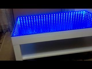 3D RGB стол с эффектом туннеля (эффектом бесконечности) infinity mirror