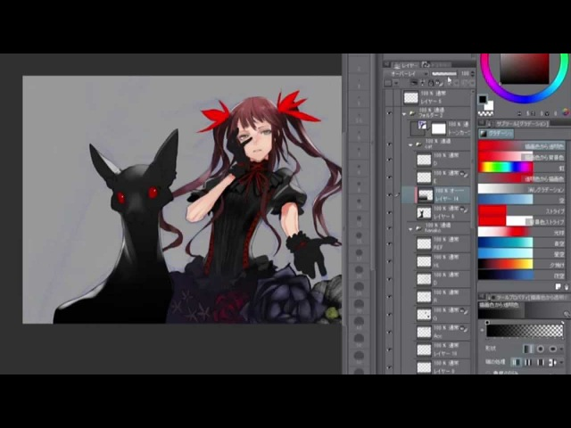 Redjuice Live Painting in MANSAI [SUB] Tutorial(Tips for illustration) (33)