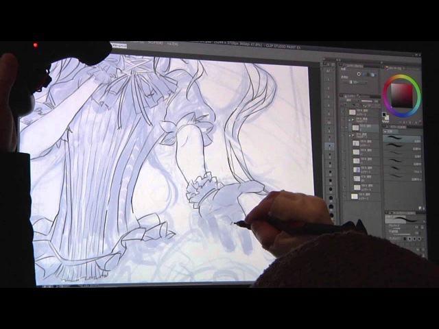 Redjuice Live Painting in MANSAI [SUB] Tutorial(Tips for illustration) (13)