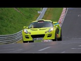 Lime Green Lotus Exige S - Accelerating, Fly by & More!