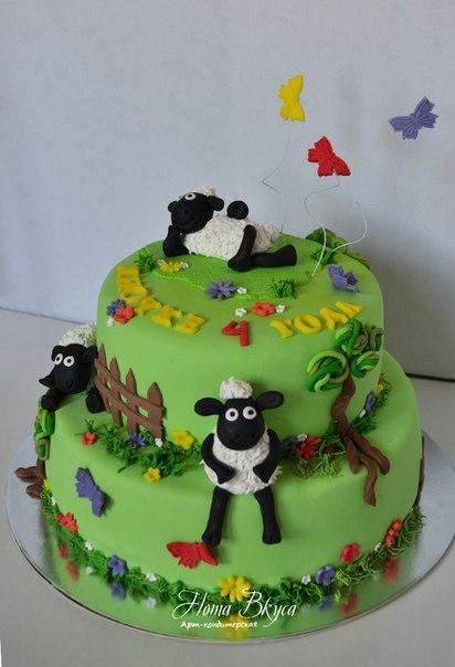 Торт с барашками