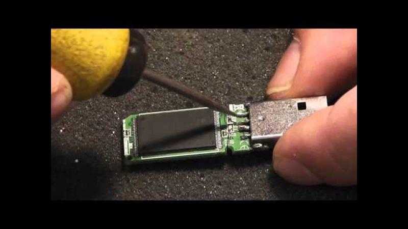 Как отремонтировать флешку видео