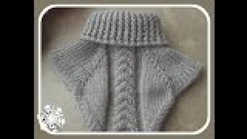 Манишка спицами. Collar knitting