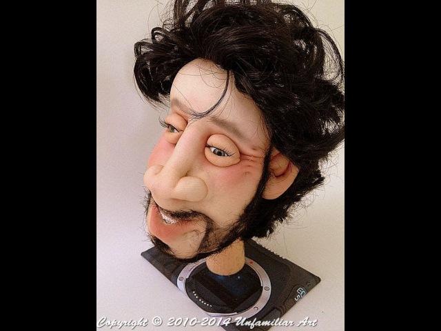 Пошаговый МК создание мужского лица в скульптурном текстиле от Анны Фруг
