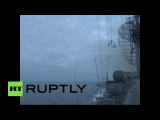 Ракетный крейсер «Москва» выполнил учебную стрельбу в Атлантике