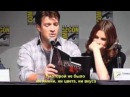 Nathan Fillion and Stana Katic reads a page of a Rick Castle Book [RUS subtitles]