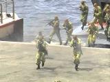 2015. Владивосток. Высадка десанта и показательные выступления морских пехотинцев в честь Дня ВМФ