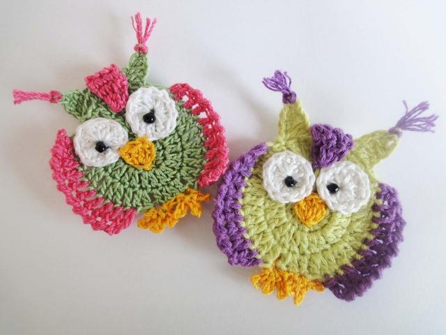 Аппликация СОВА Crochet OWL applique