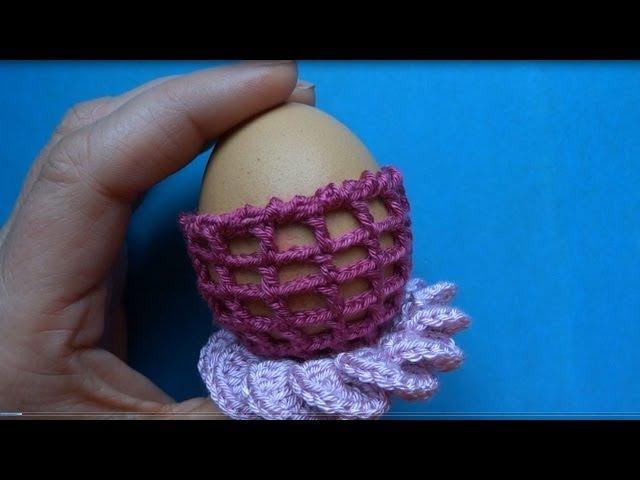Crochet Ester egg Пасхальное яйцо как сделать подставку