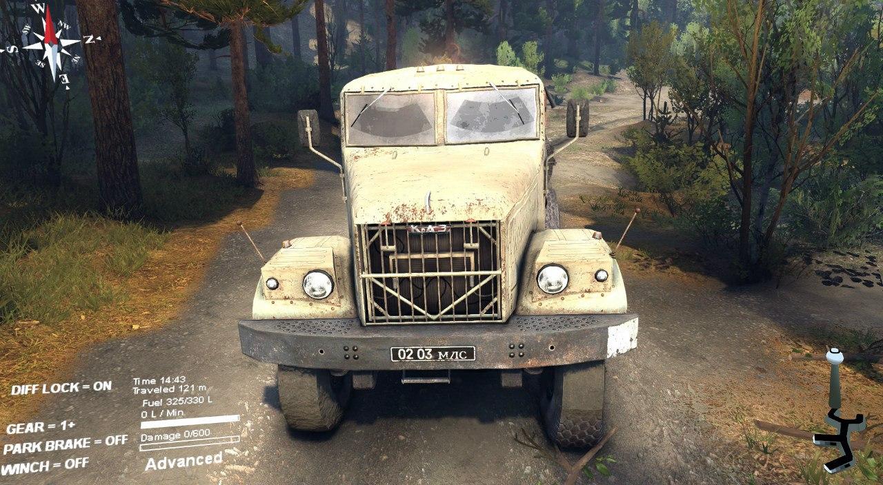 КрАЗ 25 для Spintires - Скриншот 2
