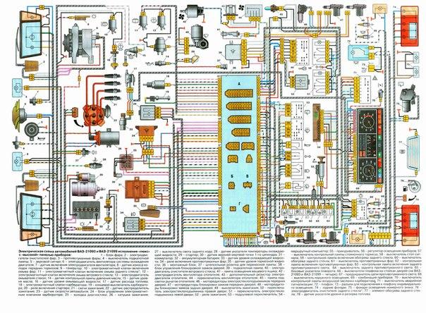 Электрическая схема ВАЗ 21093