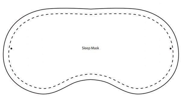 Как сделать маску на глаза для сна своими руками