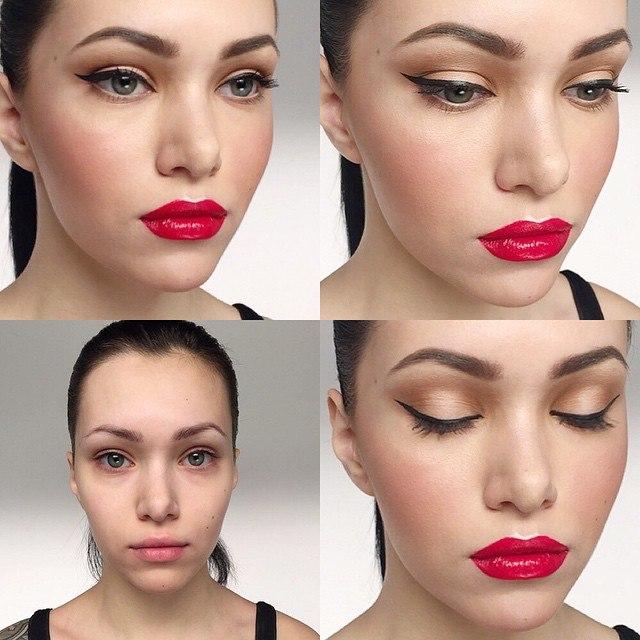 Как сделать лицо красивым макияж