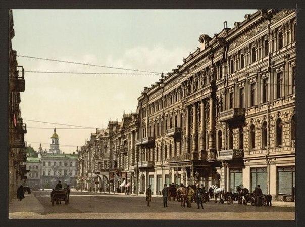Киев. Николаевский цепной мост. Построен в 1853 г. Разрушен окончательно Красной армией в 1920 г.