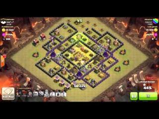 Clash of Clans | TH9 vs TH9 Golem, Wizard, Pekka & Balloon