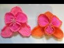 Орхидея крючком. Тунисское вязание. Цветок крючком. Ч. 1 (Orchid. Tunisian crochet. P. 1)