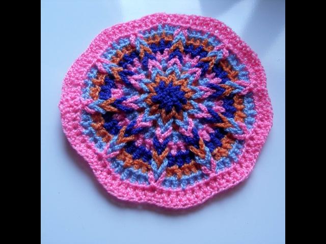 Узор косичка. Косичка крючком. Из воздушных петель. Вязание коврика. (Pattern pigtail)