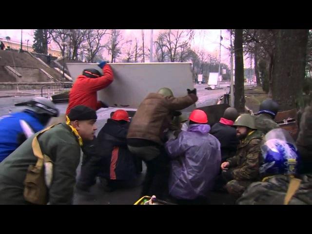 Отстрел майдановцев снайперами из из гостиницы Украина Видео журналиста ВВС 20 02 2014