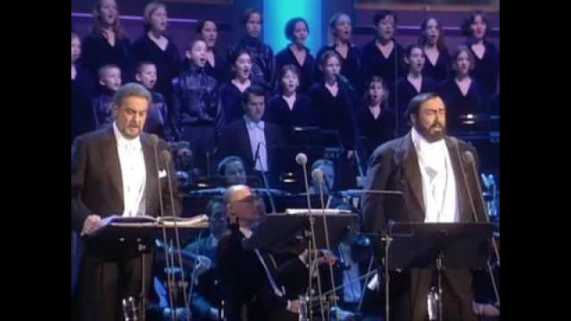 Luciano Pavarotti and Placido Domingo - O Holy Night / Cantique De Noel (Christmas-Vienna 1999)