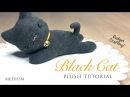 DIY Black Cat Plush and Halloween Hairband Tutorial