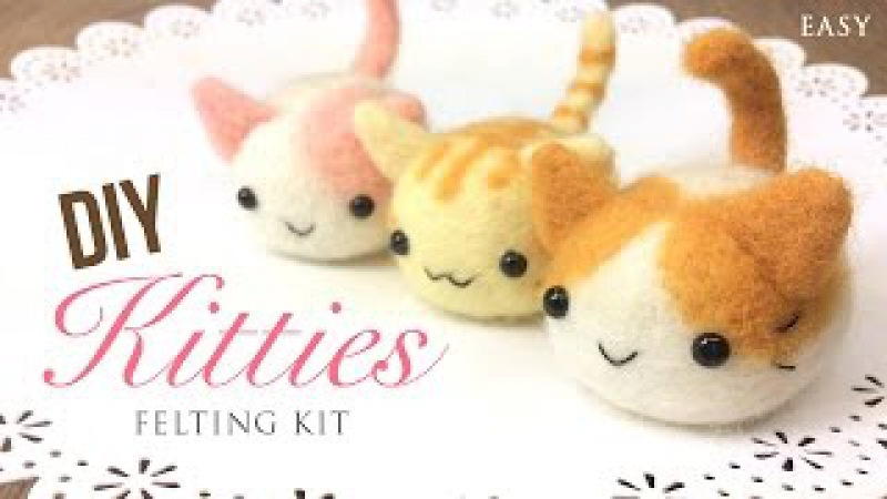 Kawaii DIY Kittens - Relaxing ASMR Craft Tutorial