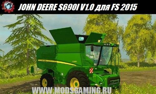 Farming Simulator 2015 download mod harvester JOHN DEERE S690I V1.0